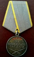 Russian Medal for 'Battle Merit' - Authentic ORIGINAL