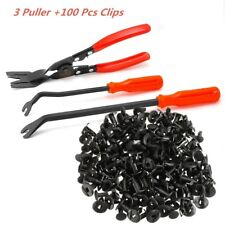 3 Clip Plier Fastener Remover Essential Combo Repair Tools +100pc Nylon Fastener