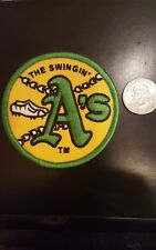 """Oakland A's Athletics """"The Swingin"""" Vintage Embroidered Iron On Patch 3"""" 1970'S"""