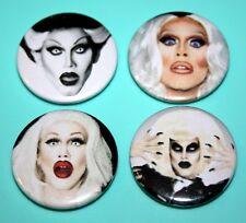 Set Of 4 Sharon Needles Ru Pauls Drag Race Button Pin Badges