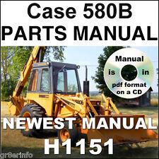 Case 35 580CK Loader Backhoe 580 B Series Tractors PARTS MANUAL CATALOG H1151 CD