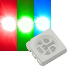 10x RGB SMD LEDs 5050 3-Chip PLCC6 FULLCOLOR rot-grün-blau HIGHPOWER SMDs / 5050