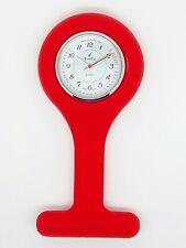 Enfermera Fob Watch por tiempo co 1161-6 A Rojo RRP £ 14.99