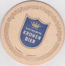 alter Bierdeckel Dortmunder Kronen Bier Heinrich Wenker