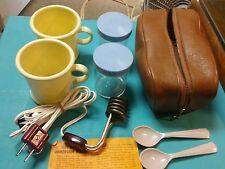 Vintage Hot Rod Immersion Travel Beverage & Soup Heater in Leather Case