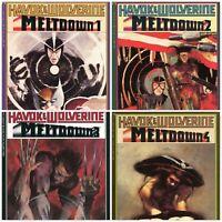 Havok & Wolverine Meltdown #1-4 Full Run Complete Series Epic Comics 1988 Marvel