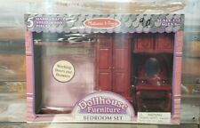 Melissa & Doug Dollhouse Furniture 5 Piece Bedroom Set 1:12 New