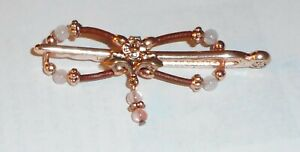 Lilla Rose Flexi Clip 3466 XS Ana Barrette Hair Styler New Pink Crystal Drop