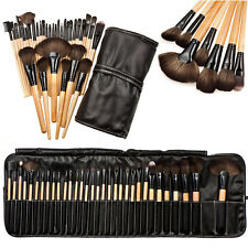 Professional 32 Pcs Kabuki Make Up Brush Set and Cosmetic Brushes Case Bag Pouch