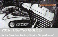 2016 Harley Davidson Touring Models Factory Service Shop / Repair CD Manual