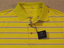 $89 Bobby Jones X-H2O Perf Poly/Spandex Golf/Polo Shirt w/Golfer Placket- L- Nwt