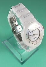 Womens Skagen White Ceramic Watch Pearl Face