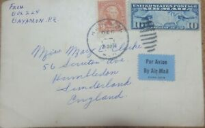 USA 1926. Map of U.S. 9 10 Cents Air Mail. Used Cover