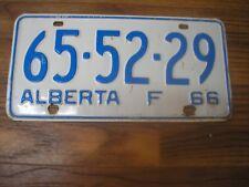1966 Alberta 52 Year Old Farm License Plate 65-52-29