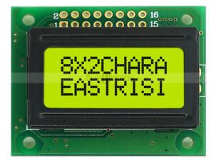 5V 8x2 LCD Module Character Display w/Tutorial,Bezel,HD44780,Backlight