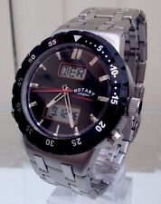ROTARY Mens Watch Military style WORLD TIMER ANALOGUE & DIGITAL RRP £190 Genuine
