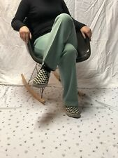 Vintage 70s 80s Mint Green Flare Bottom Womens Pants