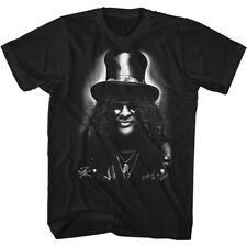 Slash Black & White Bust Photo Men's T Shirt Heavy Metal Music Merch