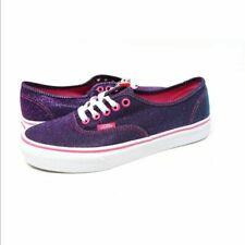 Vans Authentic Shimmer Magenta Women's Skate Shoes Size 6.5