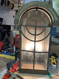 Architectural Vintage  Exterior House Light Large size Copper. 18x10x6 Working !