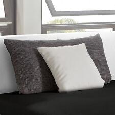 SIERRA Kissen Polsterkissen Sofakissen, Set - Weiß, Silber-Grau meliert