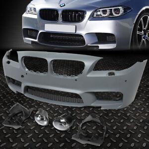 FOR 11-16 BMW 5-SERIES F10 SEDAN/HATCHBACK M5 STYLE FRONT BUMPER W/PDC+FOG LIGHT