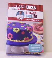 CAKE BOSS FLOWER CAKE KIT--25 PC DECORATING KIT