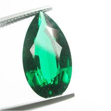 Huge!9.80ct Sparkling Chrome Green Nano Biron Emerald PearShape Cute Cut Gem Lab