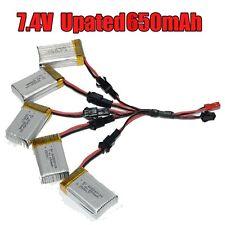 5 EN 2 CABLE + 5x 7.4v 650mah REEMPLAZAR Batería para JJRC H8C H8D DFD F183 E3R4
