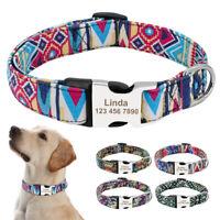 Personalisierte Hundehalsband Welpenhalsband mit Name Gravur Nylon Halsband SML