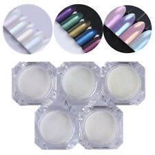 5 Pcs BORN PRETTY Mermaid Mirror Nail Glitter Powder Shimmer 3D Nail Art Decors