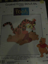 DISNEY POOH & TIGGER #34006 COUNTED CROSS STITCH KIT POUNCE FACTORY SEALED