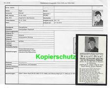 Sterbebild - NKS in Gold SB + Kriegsopfer Ansicht 31.1.1944