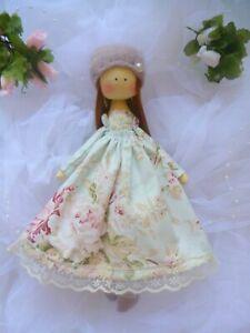 Handmade cloth doll, Textile doll, decorative doll, Fabric Doll, Tilda dolls,