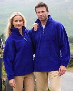 Result dicker Unisex 1/4 Zip Fleece Pullover warm XS bis 3XL Top R033X NEW