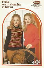 Patons Knitting Pattern Book # 964 In Totem - Jumpers, Cardigans, Poncho