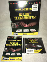 2004 Tournament Poker: No Limit Texas Hold 'em PC MAC CD-ROM Game CIB!