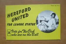 Hereford United: For League Status (1970). 12 Pages.