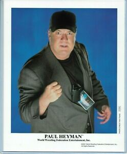 WWE PAUL HEYMAN P-729 OFFICIAL LICENSED AUTHENTIC ORIGINAL 8X10 PROMO PHOTO RARE