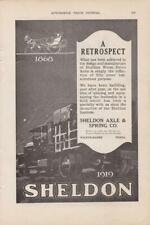 1919 Sheldon Axle & Spring Co Ad /  Wilkes-Barre PA