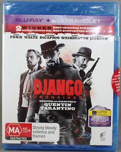 "DJANGO UNCHAINED (2018: BLU-RAY) BRAND NEW / SEALED ""REGION B"""