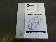 Miller Bobcat 250 Diesel Welder Owners Manual