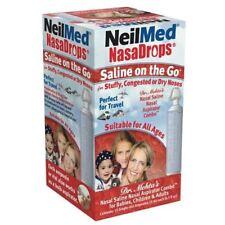 NeilMed NasaDrops Saline On The Go Ampoules 15ml (x15) Aspirator Combo