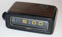 Vintage 70s Sankyo Tokyo Japan Flip Roll Clock 303AL Retro wood finish