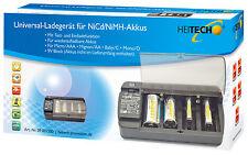 HEITECH Universal Akku Ladegerät für AAA/AA/C/D/9 V Akkus