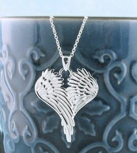 Angel Wings Pendant ONLY - Guardian Prayer Sterling Silver wh91