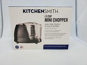 Kitchen Smith 1.5 Cup Mini Chopper Food Processor - Black - NEW