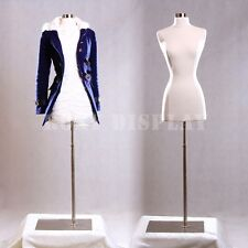 Female Size 2-4 Mannequin Dress Form Hard Dress Form White #F2/4W+Bs-05