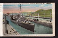 1921 colon,limon & cristobal ships panama canal 14 view booklet postcard