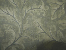GREEN ON GREEN LEAVES TONE ON TONE COTTON FABRIC~SEW-RAG QUILT--2 YARDS LEFT